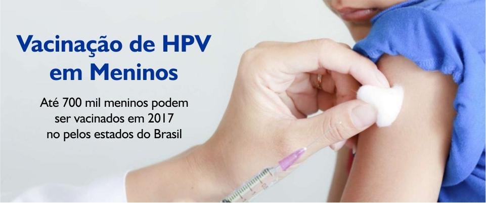 Vacinação de HPV em Meninos